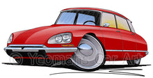 Load image into Gallery viewer, Citroen DS21 - Caricature Car Art Print