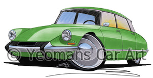 Citroen DS - Caricature Car Art Print