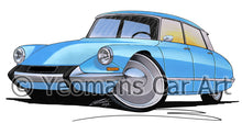 Load image into Gallery viewer, Citroen DS - Caricature Car Art Print