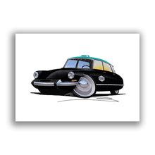 Load image into Gallery viewer, Citroen DS Taxi - Caricature Car Art Print