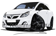 Load image into Gallery viewer, Vauxhall Corsa D VXR Arctic Edition - Caricature Car Art Coffee Mug