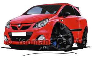 Vauxhall Corsa D VXRacing Edition - Caricature Car Art Print