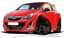 Load image into Gallery viewer, Vauxhall Corsa D (Facelift) Ltd Edition - Caricature Car Art Print