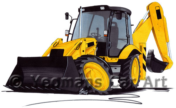 Digger 3 - Caricature Car Art Print