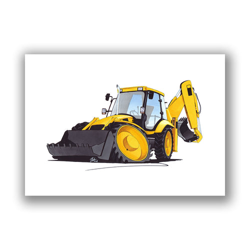 Digger 4 - Caricature Car Art Print