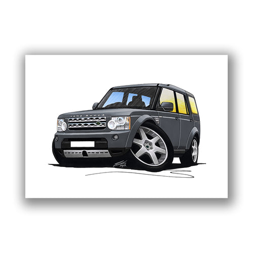 Land Rover Discovery 4 - Caricature Car Art Print
