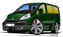 Load image into Gallery viewer, Citroen Dispatch Combi - Caricature Car Art Print