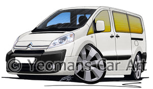 Citroen Dispatch Combi - Caricature Car Art Print