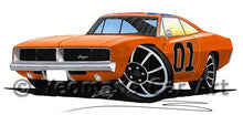 Load image into Gallery viewer, Dodge Charger (General Lee) - Caricature Car Art Coffee Mug