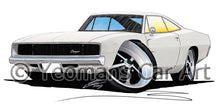 Load image into Gallery viewer, Dodge Charger - Caricature Car Art Print