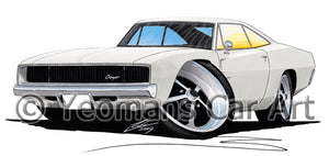 Dodge Charger - Caricature Car Art Print