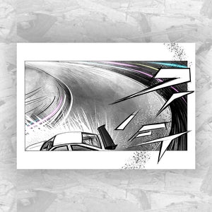 Drift 1 - Drifting Car Art Print