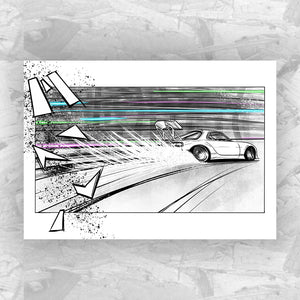 Drift 2 - Drifting Car Art Print
