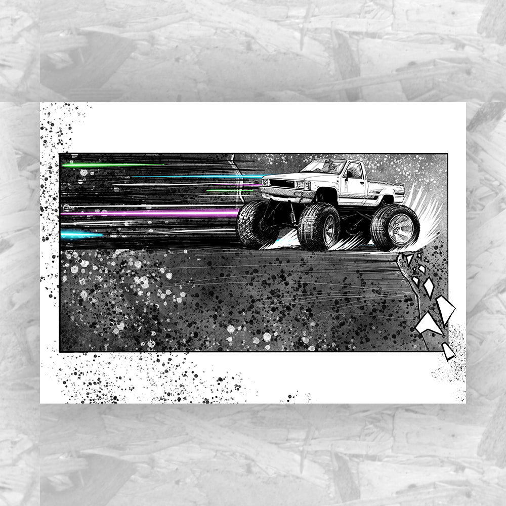 Drift 6 - Drifting Car Art Print