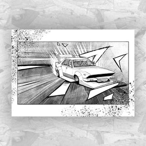 Drift 8 - Drifting Car Art Print
