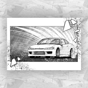Drift 9 - Drifting Car Art Print