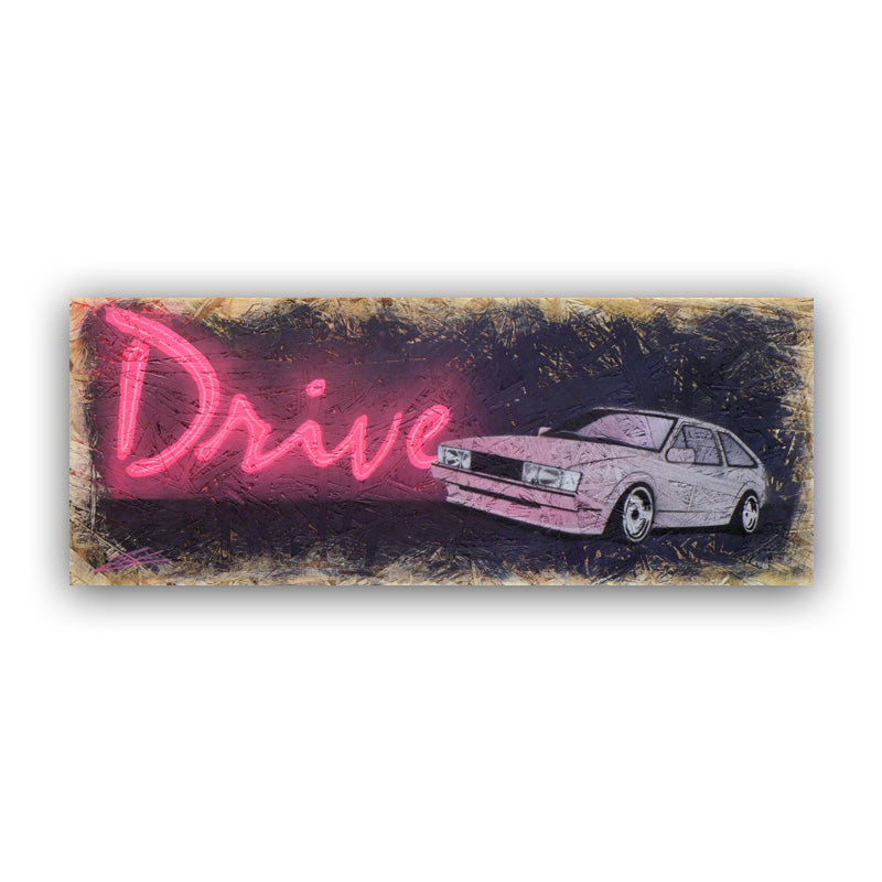 'Drive Scirocco' - Original Painting on OSB
