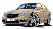 Load image into Gallery viewer, Mercedes E-Class (W212) Saloon - Caricature Car Art Print