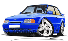 Load image into Gallery viewer, Ford Escort (Mk4) RS Turbo S2 - Caricature Car Art Print