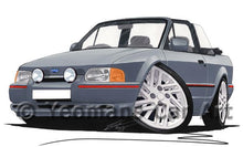 Load image into Gallery viewer, Ford Escort (Mk4) XR3i (90-Spec) Cabriolet - Caricature Car Art Coffee Mug