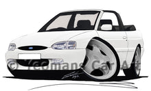 Load image into Gallery viewer, Ford Escort (Mk7) Si Cabriolet - Caricature Car Art Print