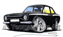 Load image into Gallery viewer, Ford Escort (Mk1) Mexico - Caricature Car Art Print