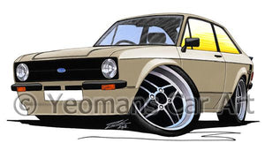 Ford Escort (Mk2) Mexico - Caricature Car Art Coffee Mug
