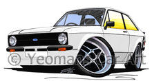 Load image into Gallery viewer, Ford Escort (Mk2) Mexico - Caricature Car Art Print