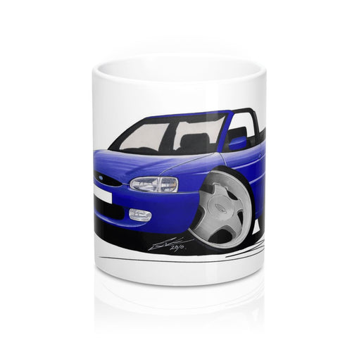Ford Escort (Mk7) Si Cabriolet - Caricature Car Art Coffee Mug