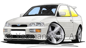 Ford Escort RS Cosworth - Caricature Car Art Coffee Mug