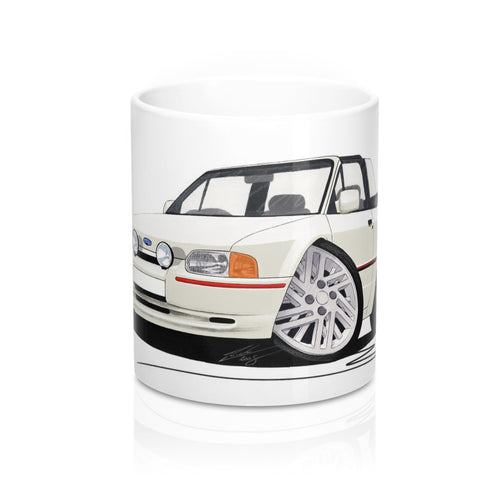 Ford Escort (Mk4) XR3i (90-Spec) Cabriolet - Caricature Car Art Coffee Mug