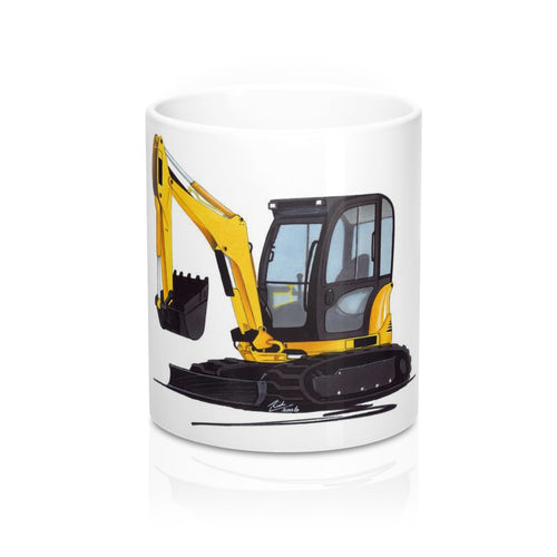 Excavator 8032 - Caricature Car Art Coffee Mug