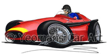 Load image into Gallery viewer, 1957 - Maserati 250F - Juan Manuel Fangio - Caricature F1 Car Art Mug