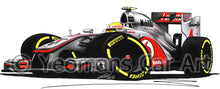 Load image into Gallery viewer, 2012 - McLaren MP4-27 - Lewis Hamilton - Caricature F1 Car Art Print
