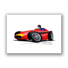 Load image into Gallery viewer, 1957 - Maserati 250F - Juan Manuel Fangio - Caricature F1 Car Art Print