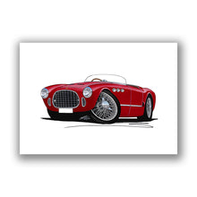 Load image into Gallery viewer, Ferrari 225 Sport Spyder - Caricature Car Art Print