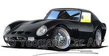 Load image into Gallery viewer, Ferrari 250 GTO - Caricature Car Art Print