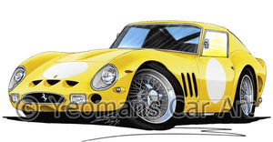 Ferrari 250 GTO (Racer) - Caricature Car Art Coffee Mug
