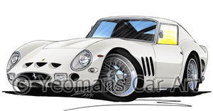 Ferrari 250 GTO - Caricature Car Art Coffee Mug