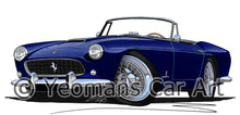 Load image into Gallery viewer, Ferrari 250 GT Cabriolet Pininfarina - Caricature Car Art Print