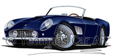 Load image into Gallery viewer, Ferrari 250 GT California - Caricature Car Art Coffee Mug