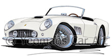 Load image into Gallery viewer, Ferrari 250 GT California - Caricature Car Art Print