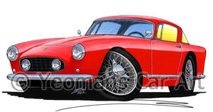Ferrari 250 GT Coupe - Caricature Car Art Coffee Mug