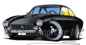 Ferrari 250 Lusso Berlinetta - Caricature Car Art Print