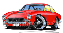 Load image into Gallery viewer, Ferrari 250 Lusso Berlinetta - Caricature Car Art Print