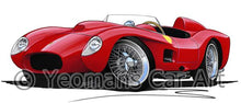 Load image into Gallery viewer, Ferrari 250 Testa Rossa - Caricature Car Art Coffee Mug