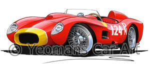 Ferrari 250 Testa Rossa (Racer) - Caricature Car Art Coffee Mug