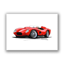 Load image into Gallery viewer, Ferrari 250 Testa Rossa - Caricature Car Art Print