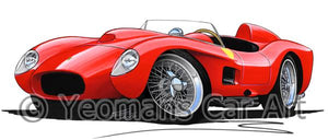 Ferrari 250 Testa Rossa - Caricature Car Art Coffee Mug
