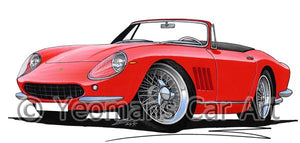 Ferrari 275 GTB NART Spyder - Caricature Car Art Coffee Mug